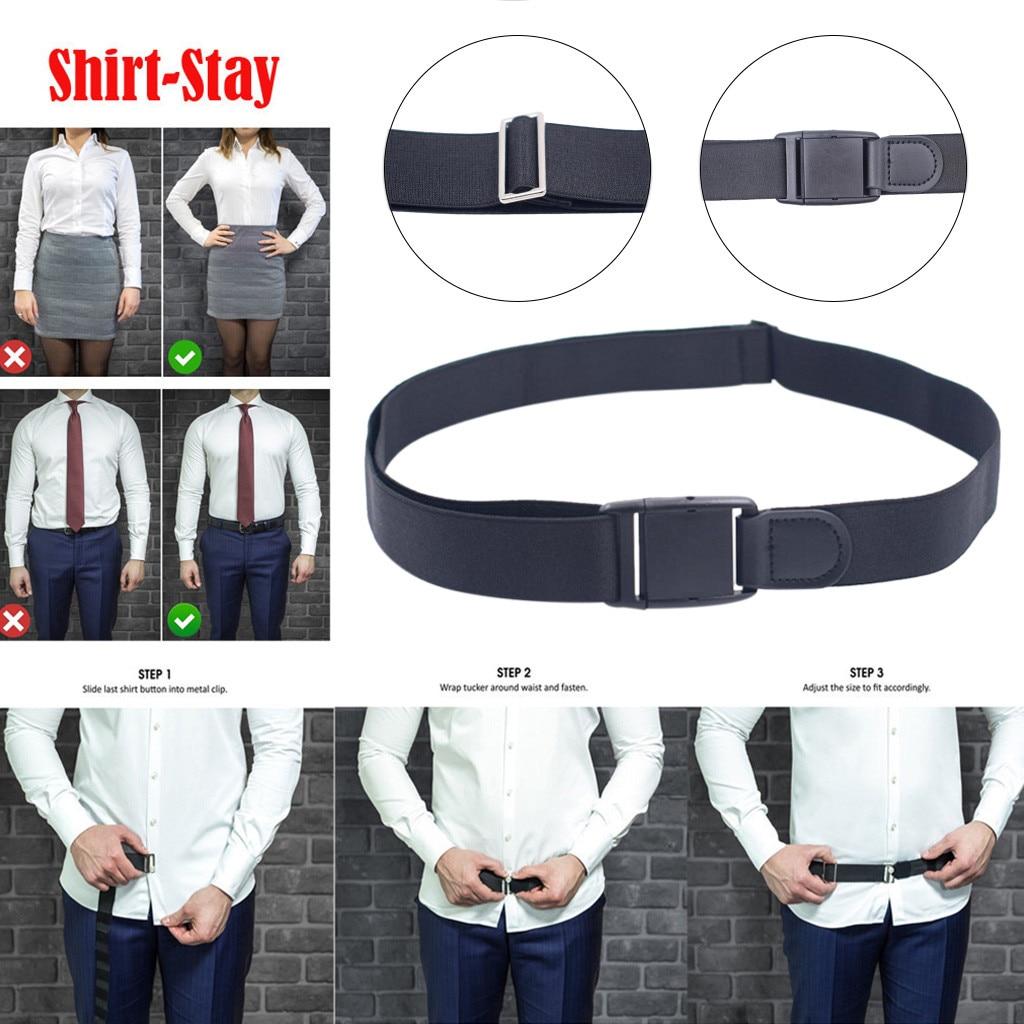 Fashion Business Men Women Adjustable Near Shirt-Stay Best Shirt Stays Black Tuck It Belt Shirt Tucked Men Elastico Para Camisa
