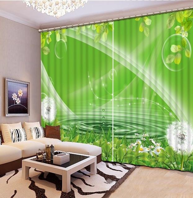 US $79.56 49% di SCONTO|Personalizzare 3d lusso tende moderne per soggiorno  pianta Verde fiori 3d cucina tende tende della finestra scenario in ...