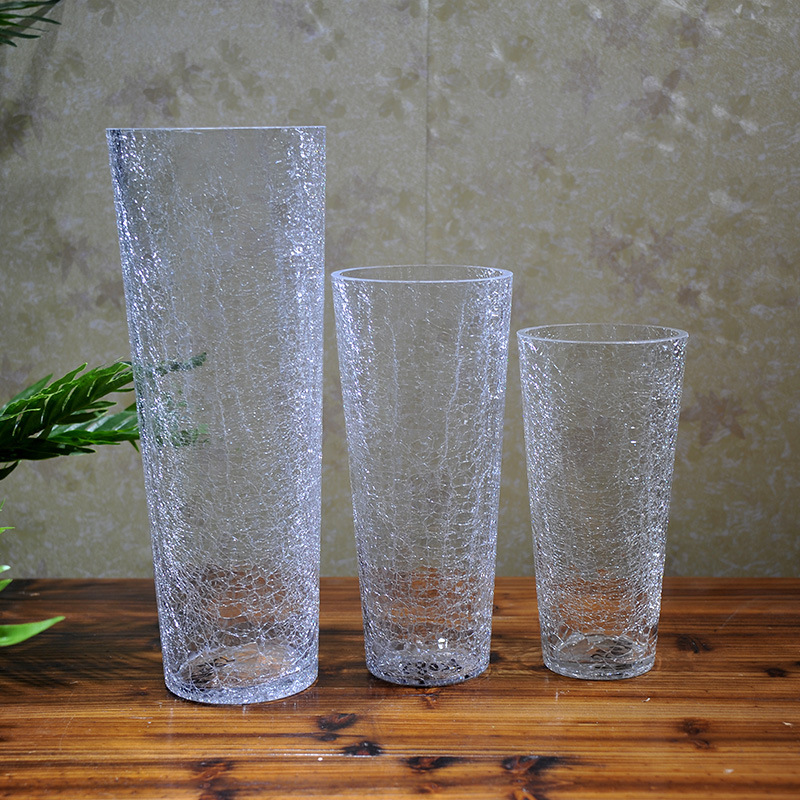 US house home decor minimalist house opening Ice Queen Decoration crystal glass vase Crystal Vase