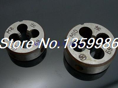 2pcs Non Standard M10x1 Left Hand Thread Dies Alloy Steel Round Dies 2pcs pairing left