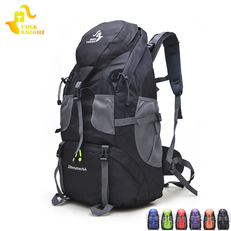 Free Knight 50L Waterproof Hiking Backpack Trekking Travel Backpack For Men Women Sport Bag Outdoor Climbing Bag 5 Colors