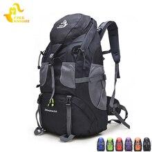 Livre cavaleiro 50l caminhadas à prova dwaterproof água mochila de viagem para mulheres dos homens saco de desporto ao ar livre escalada 5 cores