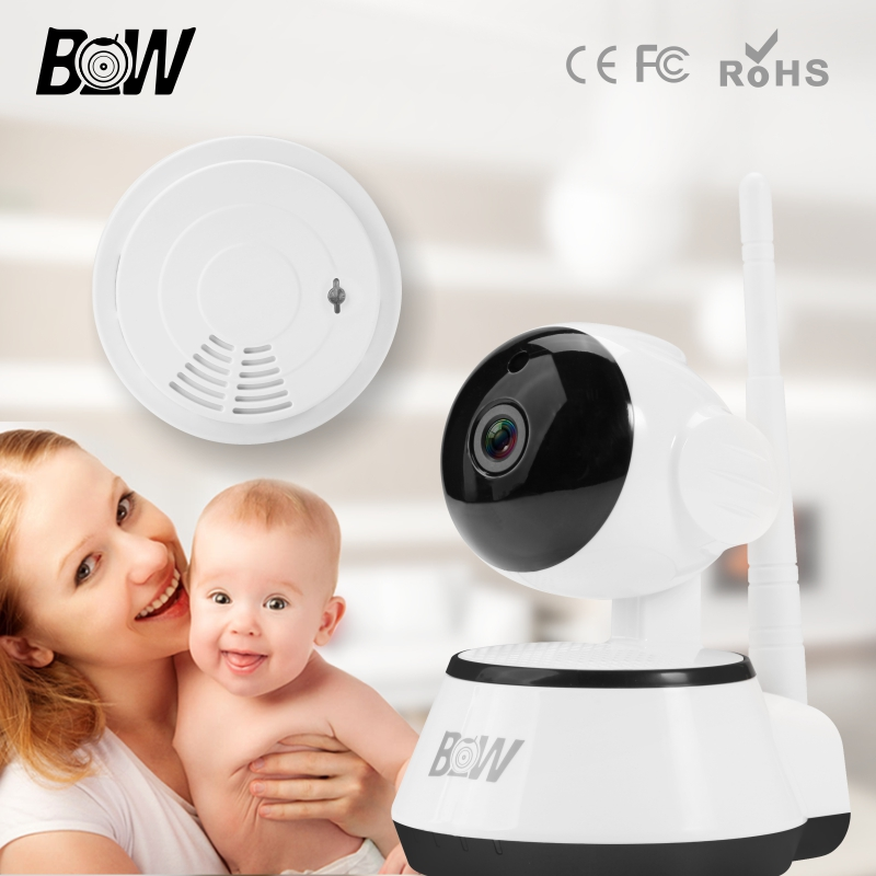 BW Wireless Wifi IP Camera 720P HD Surveillance Security CCTV Home Cam Smart P2P 3.6mm Endoscope Baby Monitor Automatic Alarm bw wireless wifi door