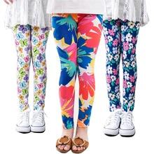 girl pants new arrive printing Flower girls leggings Toddler Classic Leggings  2-14Ybaby kids