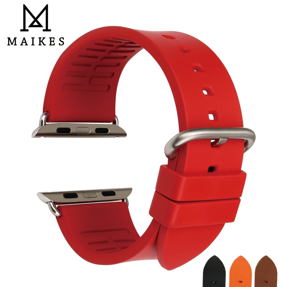 MAIKES Armband für Apple Uhrenarmbänder 42mm 38mm Serie 4 3 2 1 - Uhrenzubehör - Foto 1