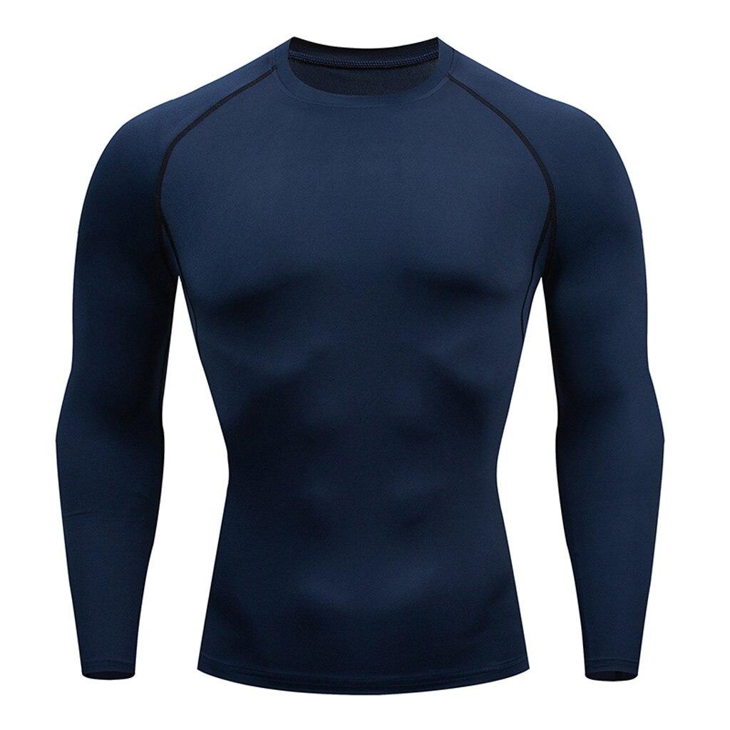 Camiseta de manga larga, mallas de compresión para hombre, Camiseta deportiva para correr, transpirable, de manga larga, ropa de gimnasio # XTN