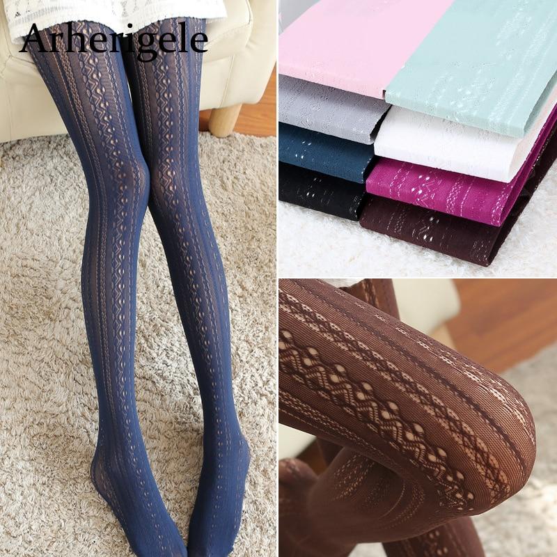 Buy Arherigele Women's Pantyhose Vertical Striped Sexy Stockings Pantyhose Ladies Girls Nylon Pantyhose Tights Collant Femme