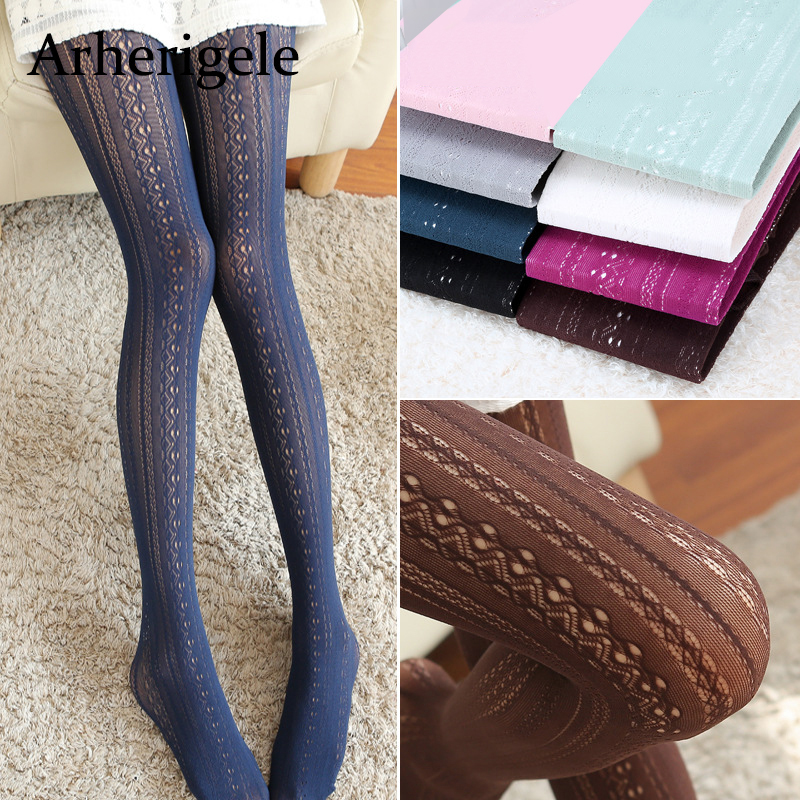 Arherigele Womens Pantyhose Vertical Striped Sexy Stockings Pantyhose for Ladies Girls Nylon Pantyhose Tights Collant Femme
