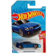 New Arrivals 2018 8b Hot Wheels 1:64 blue nissan skyline gtr r33 Car Models Collection Kids Toys Vehicle For Children hot cars(China)