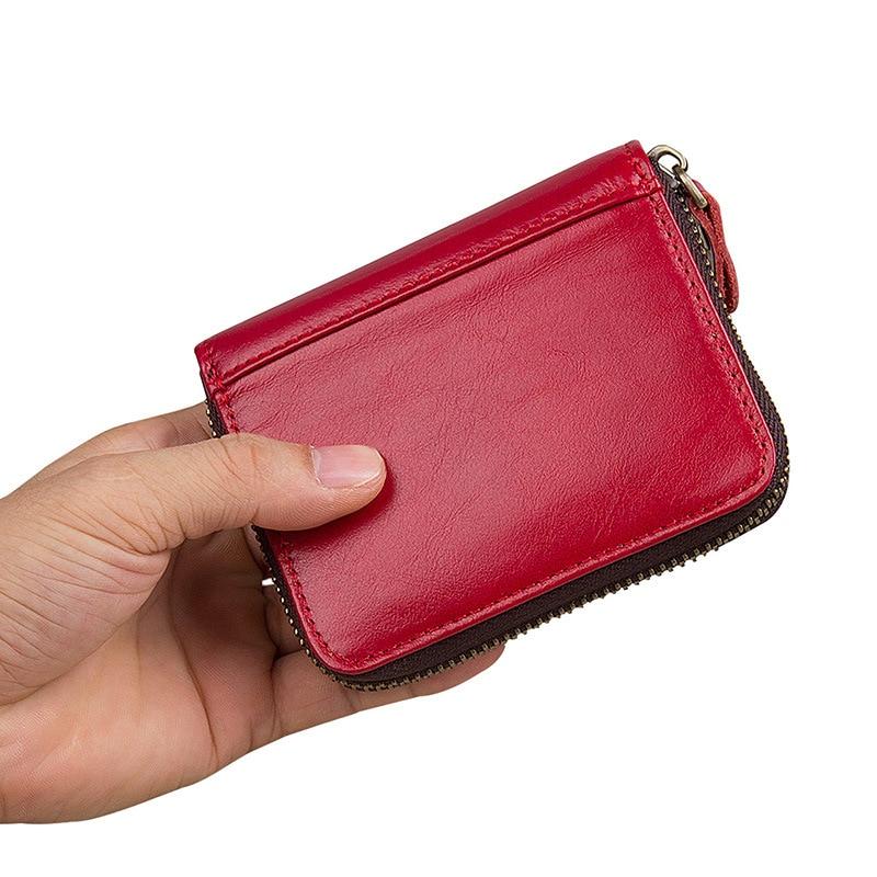 ONEFULL genuine leather women wallets coin purse key bag RFID card packet short clutch wallet brand women zipper