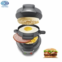 Mini Sandwich Toaster Breakfast Baking Machine Automatic Hamburger Maker Bacon Egg Frying Pan 220V Kitchen Appliances