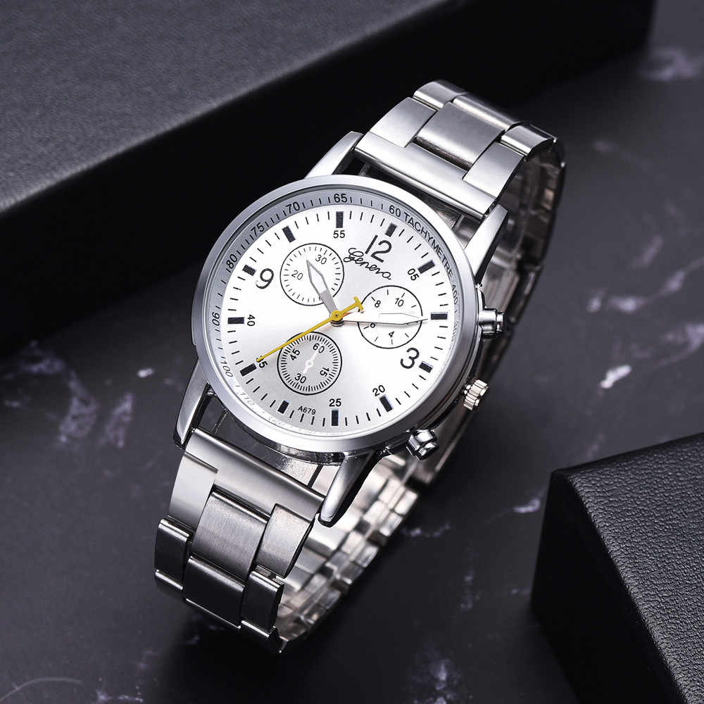 Moda męska pas stalowy analogowe zegarki sportowe kwarcowy na rękę zegarek męski na rękę strona dekoracji garsonka zegarek prezenty mężczyzna mężczyzna chłopaka