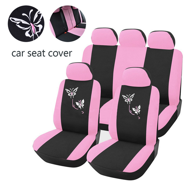 Dewtreetali decoration car seat covers for women universal fit most dewtreetali decoration car seat covers for women universal fit most cars airbag compatible pink flower embroidery mightylinksfo