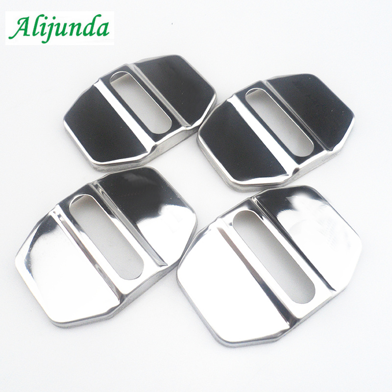 4 Things. New Car Door Striker Latch Cover Buckle Caps Protector For Mercedes-Benz B C E GLK ML SLK Class