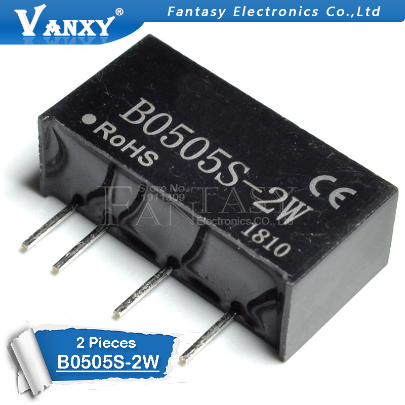 Flight Tracker 2pcs B0505s-2w Dip-4 Dc-dc B0505s 2w Sip-4 B0505s-2wr2 Refreshing And Enriching The Saliva Integrated Circuits Active Components