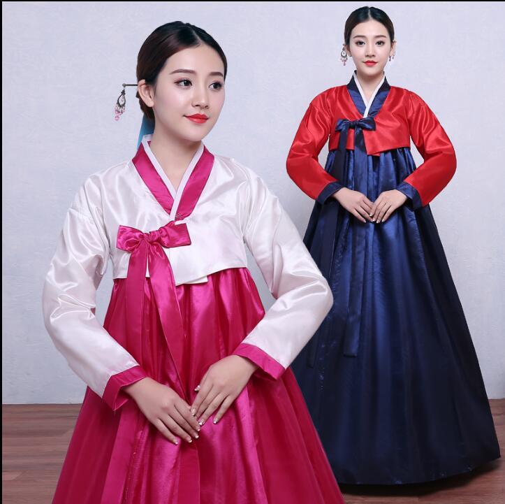 Fashion Woman Traditional Hanbok Korean Dress Korea Wedding Dance Costume Hanbok Women Oriantal ...