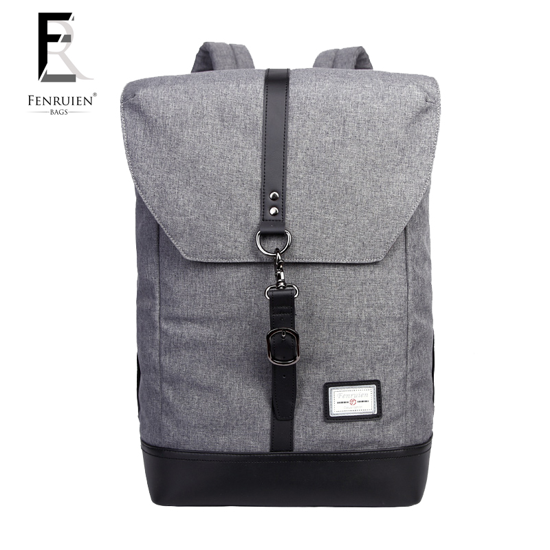 Japanese Style Fenruien Casual Nylon Backpack Men Tablet Rucksack with Cover Fashion Daily Student School Backpack Bag for Youth