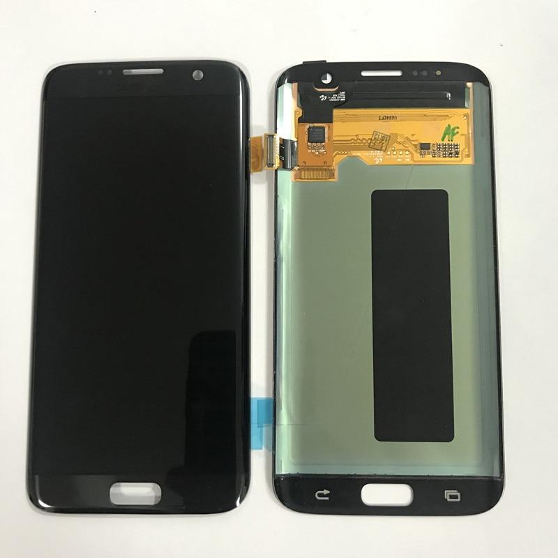 Test Graver Ombre écran lcd Pour Samsung S7 bord écran lcd Pour S7 bord G935 G935F Affichage écran lcd ensemble de digitaliseur tactile