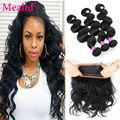 360 Frontal Band With Bundles Brazilian Body Wave With Frontal Closure Cheap Brazilian Virgin Hair With Frontal Closure Bundle