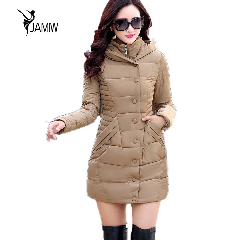 2017 Autumn Winter Jacket Women Cotton-padded Plus Size Winter Coat Women Thicken Warm Long Parkas Womens Hooded Overcoat warm thicken baby rompers long sleeve organic cotton autumn