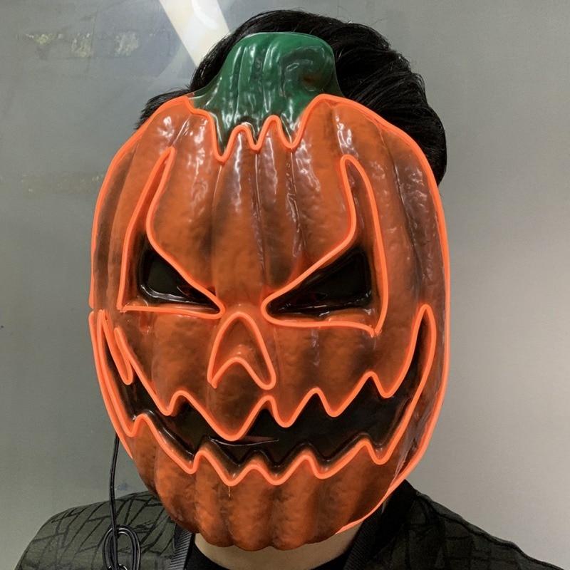 Light Up Pumpkin Halloween Mask 5