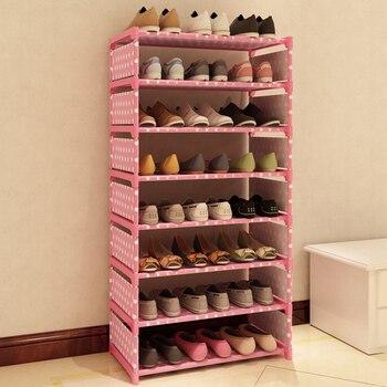 Schuhspeichermöbel | Neue Mode Muster Schuh Schrank Schuhe Racks Lagerung Große Kapazität Hause Möbel DIY Einfache 7 Schichten #236471