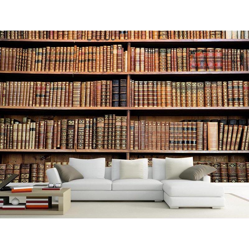 caliente d murales de papel tapiz de estantera estantera de libros de decoracin del hogar murales