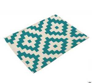 """Image 2 - مناديل ورقية 12 """"x 16"""" أحمر أخضر أبيض عاجي أزرق أصفر مناديل هندسية هندسية منديل للطاولة منديل من القماش لحفلة العشاء"""