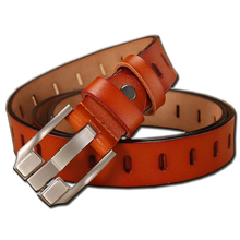 GEERSIDAN New designers genuine leather mens Womens belt Fashion high quality cowskin pin buckle for women ceinture femme