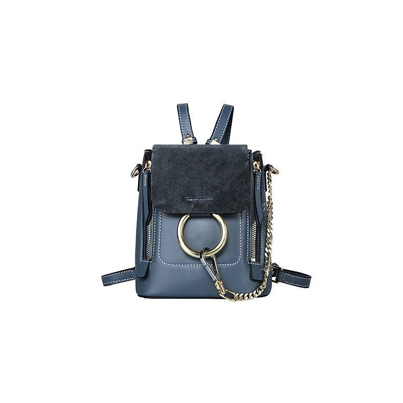 Sac à dos Vintage battant en cuir véritable femmes sac mini multi paquet été mode sacs pour dame preppy style sac femme