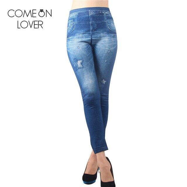TE2172 Comeonlover Горячий продавать теплые женские джинсы оптом и в розницу толстые джинсы женские брюки моды теплый и стекаются леггинсы