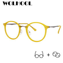 2019 New Design Glasses Frame Yellow Optical Eeywear Clear L