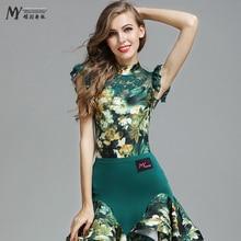 New Sale Woman Fashion Latin Dance Costume Ballroom Tango Rumba Chacha top dance competition wear MY771