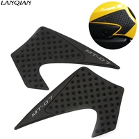 For Yamaha MT07 MT 07 MT 07 2013 2014 2015 2016 Motorcycle Tank Sticker Anti Slip Plastic Decal Pad Gas Knee Grip Traction