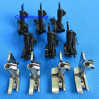 10 SETS PIPING & WALKING FOOT with R & L EDGE GUIDE for JUKI DNU 1541,241 LU 563 562 1508