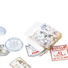 20pack/lot Creative Sticker Pack Travel Postmark Special-shaped Seal Box Album Decoration DIY Dairy