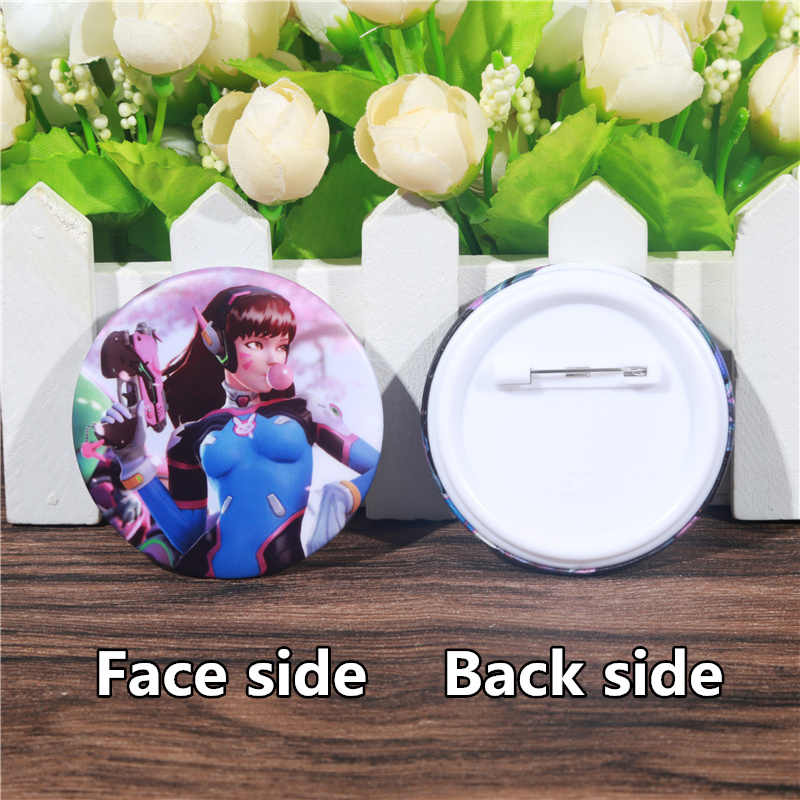 Fffpin 5.8 Cm Custom Grote Broche Badge Kind Rugzak Usa Game Gamer Icoon Pin Voor Dva D. va Computer Anime Doek Coin Breastpin