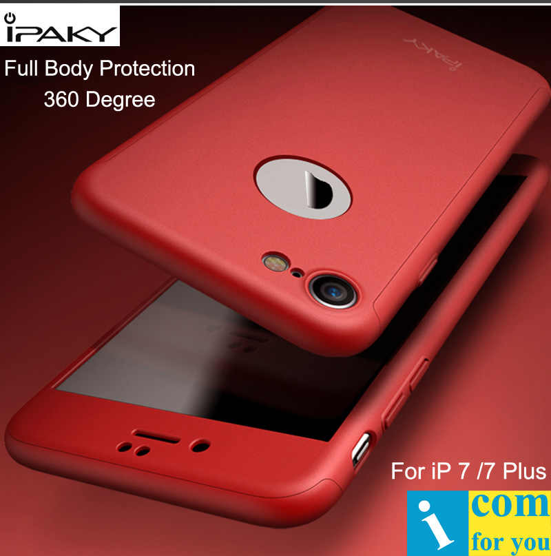 6e992530ac iPaky Full Body Cover Case For iPhone 7 360 Degree Hard PC Protective Shell  For iPhone