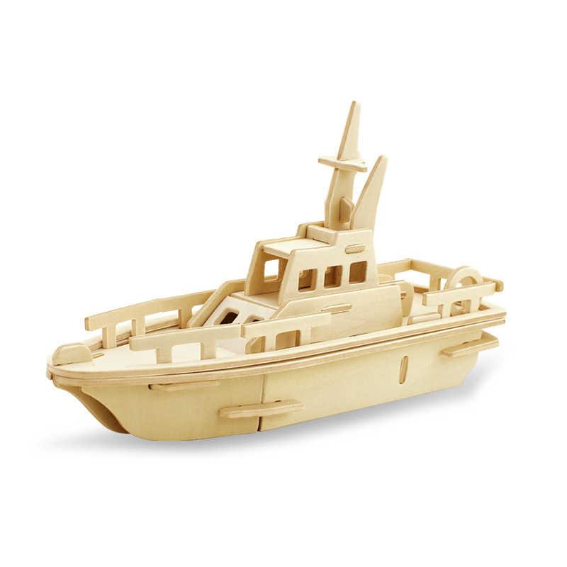 DIY Танк военный корабль модель автомобиля Военная серия Наборы сборки Творческий Собранный образование 3D деревянные головоломки игрушки для детей Подарки