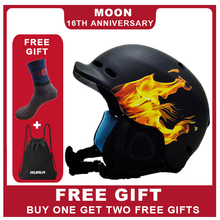 MOON Integrally-molded PC+EPS CE Certificate Snowboard Adult Ski Helmet Outdoor Sports skateboard MTV21 moon ce certificate skateboard helmet integrally molded goggles skiing helmet men women outdoor sports snowboard helmet m l xl