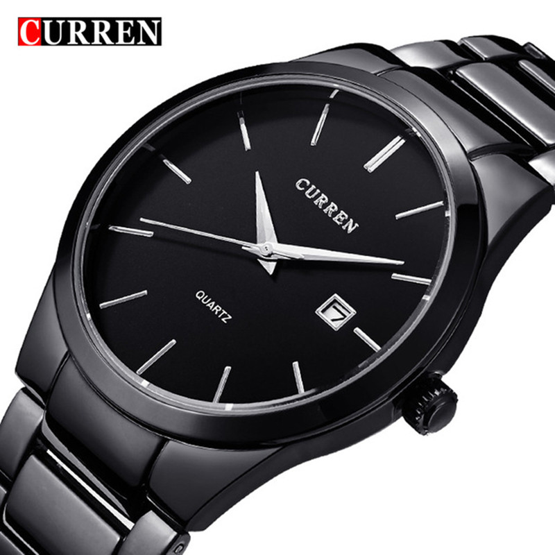 Reloj Hombre CURREN 8106 Brand Simple Fashion Casual Business Watches Men Date Waterproof Quartz Mens Watch Relogio Masculino reloj hombre curren gold watch men leather date day hours quartz casual watches mens rectangle wristwatches 30m waterproof 8097