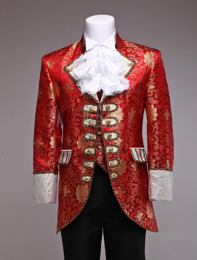Costume de palais victorien pour hommes Costume général Blazer Costume médiéval pour hommes