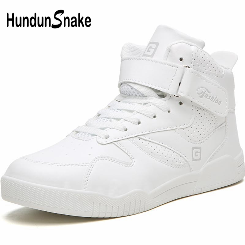 Hundunsnake Pu Leather Sneakers Man Sport Shoes Male Running Shoes Men Footwear High Top Tennis Shoe Sports White Training A-014