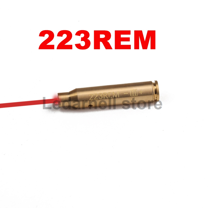 Ledarnell Tactical Accessories CAL 223 REM Cartridge Calibration Instrument Red Laser Boresighter Collimator for Hunting Rifle