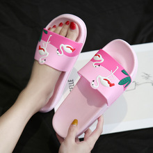 Shoes Woman Flamingo Slippers Lovely Home Slippers Sandals Beach Shoes Flip Flops Flamingo Slippers Zapatillas Mujer fashion 2018 summer women slides flamingo cartoon lovely beach slippers platform sandals women shoes flip flops zapatillas mujer