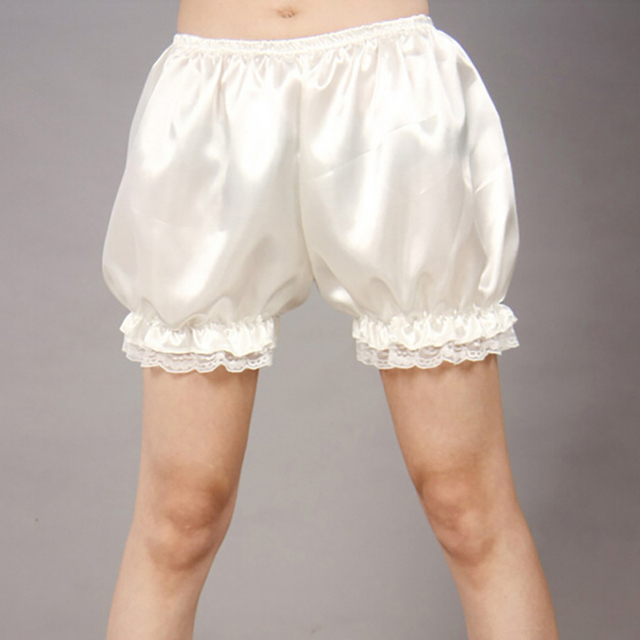 5ec4f1a636 Black White Women Satin Knickers Panties Pumpkin Bloomer Shorts Underwear  Underpants Lace Safety Short Pants Panty