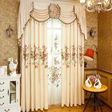Chenille Cloth Ευρώπη Πολυτελής Βίλα Valance Κεντημένα Floral Κουρτίνα Κουρτίνα για την Καθιστική Καθρέφτη Παράθυρο Tulle Διακόσμηση