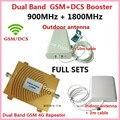 Полный Комплект GSM И DCS Booster! Dual band 4 г wi-fi ретранслятор gsm сотовых 900 МГц/1800 МГц 4 Г LTE усилитель сигнала сотового телефона booster