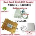 Conjunto completo GSM DCS Impulsionador!!! Dual band 4g wifi repetidor celular gsm 900 Mhz/1800 Mhz 4G LTE amplificador de sinal de telefone celular booster