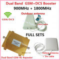 Full Set GSM DCS Booster !!! Dual band 4g wifi repeater gsm cellular 900Mhz/1800Mhz 4G LTE amplifier cell phone signal booster